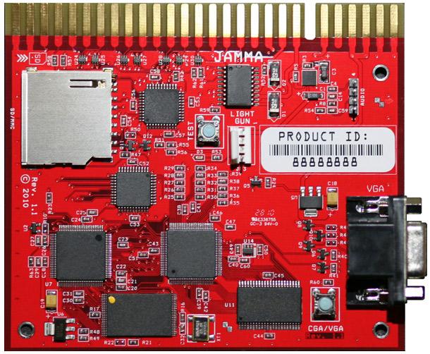 Phoenixarcade ArcadeSD - Programmable multigame JAMMA PCB