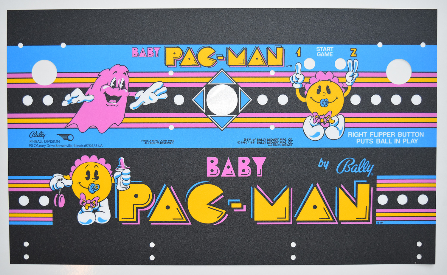 Baby Pac Man Art Package Phoenix Arcade 1 Source For