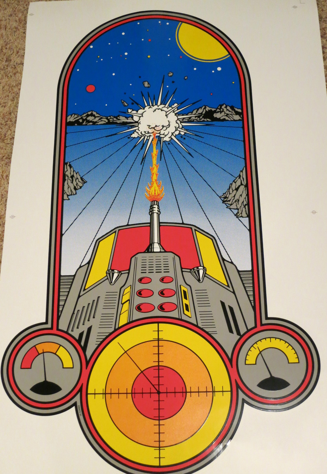 Battlezone Mini Side Art Phoenix Arcade 1 Source For