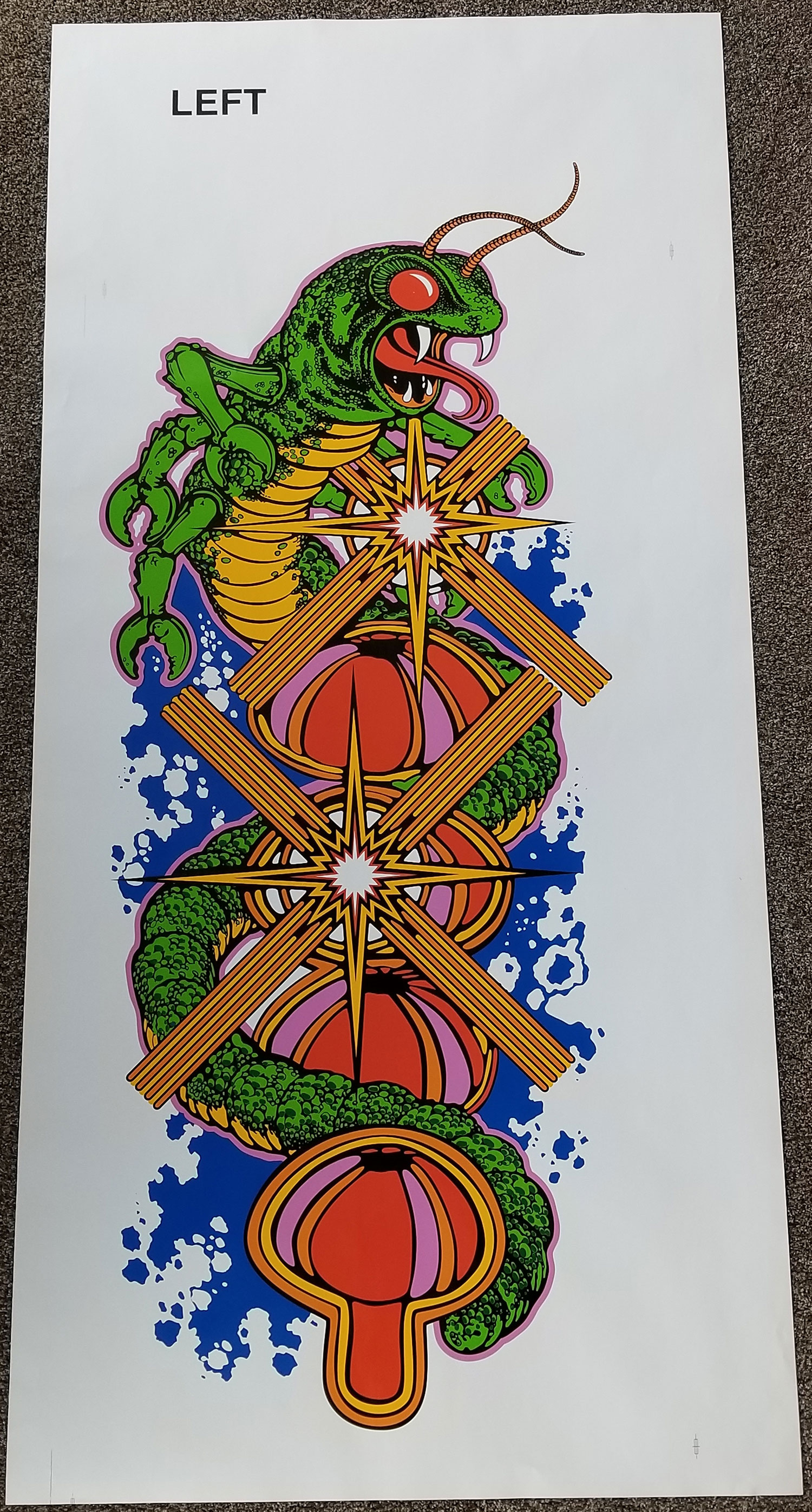 Centipede Full Sized Upright Side Art Phoenix Arcade 1 Source For Screen Printed Arcade Artwork