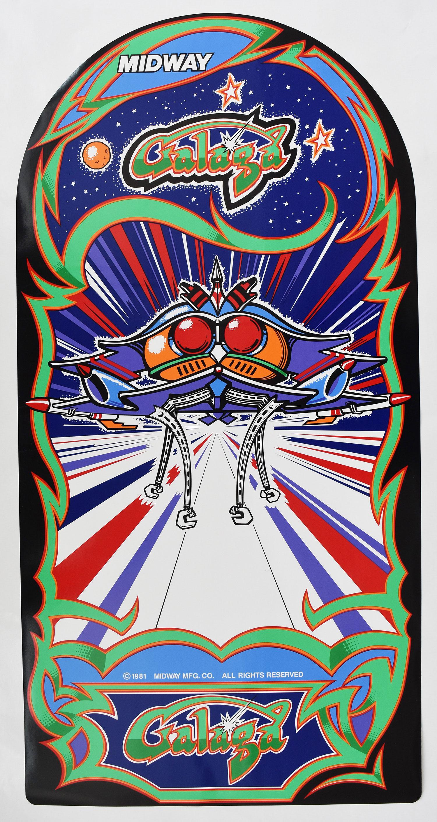 Galaga Side Art Set And Kickplate Decal Set Phoenix