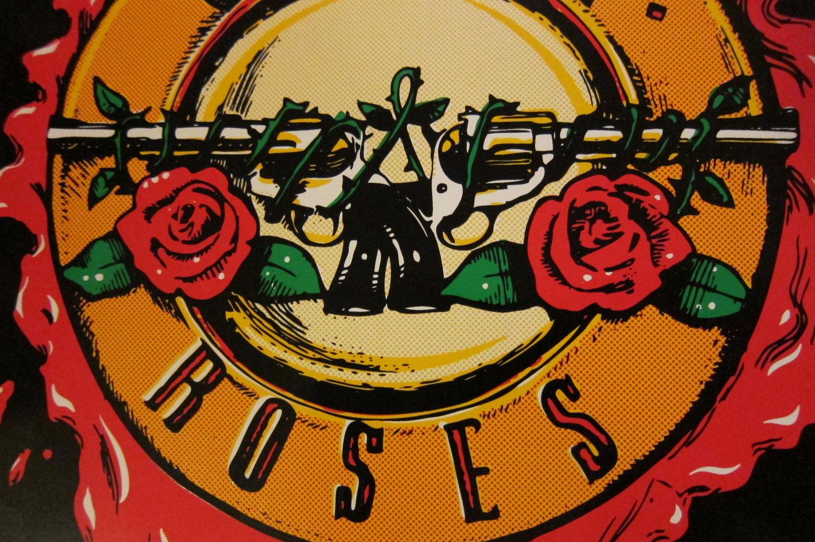 Guns N Roses 5 Piece Cabinet Decal Set Phoenix Arcade