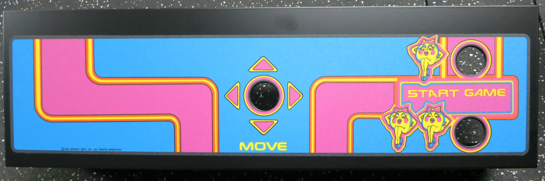 Ms Pac Man Metal Panel Phoenix Arcade 1 Source For