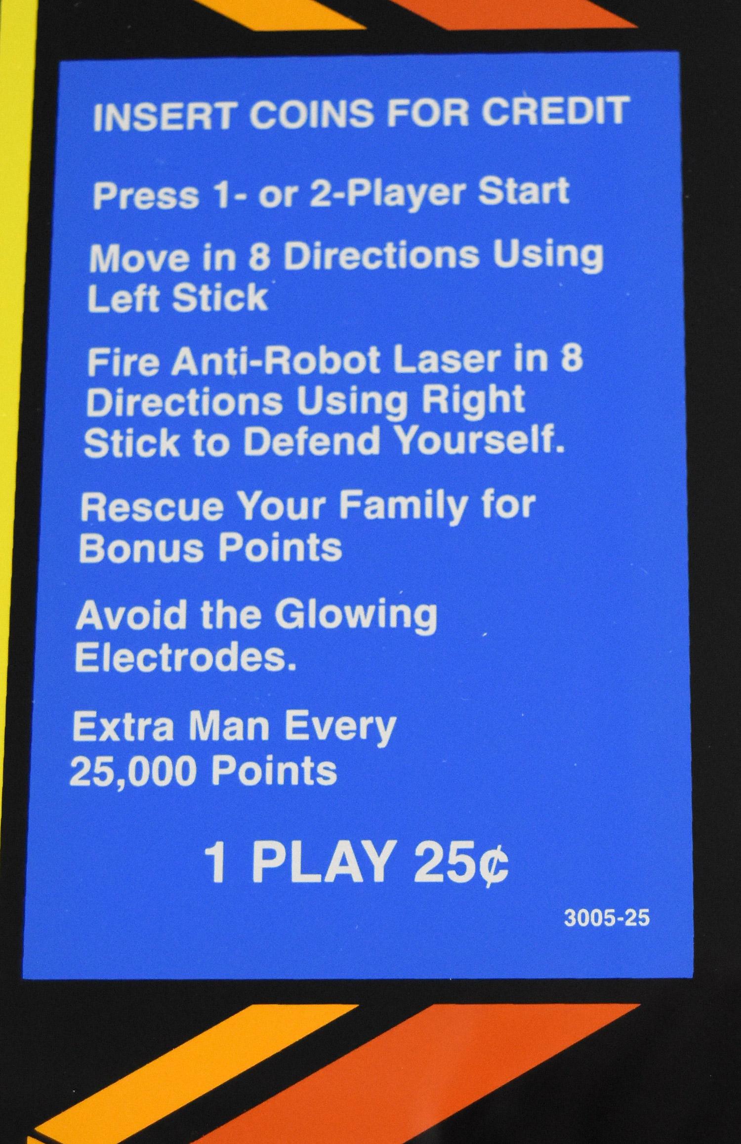 Robotron Glass Bezel And Cpo Phoenix Arcade 1 Source