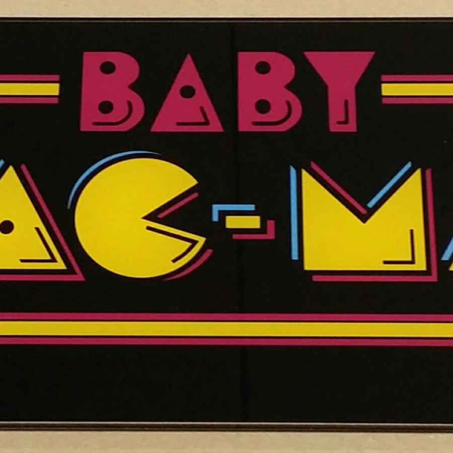 Baby Pac-Man Glass Marquee