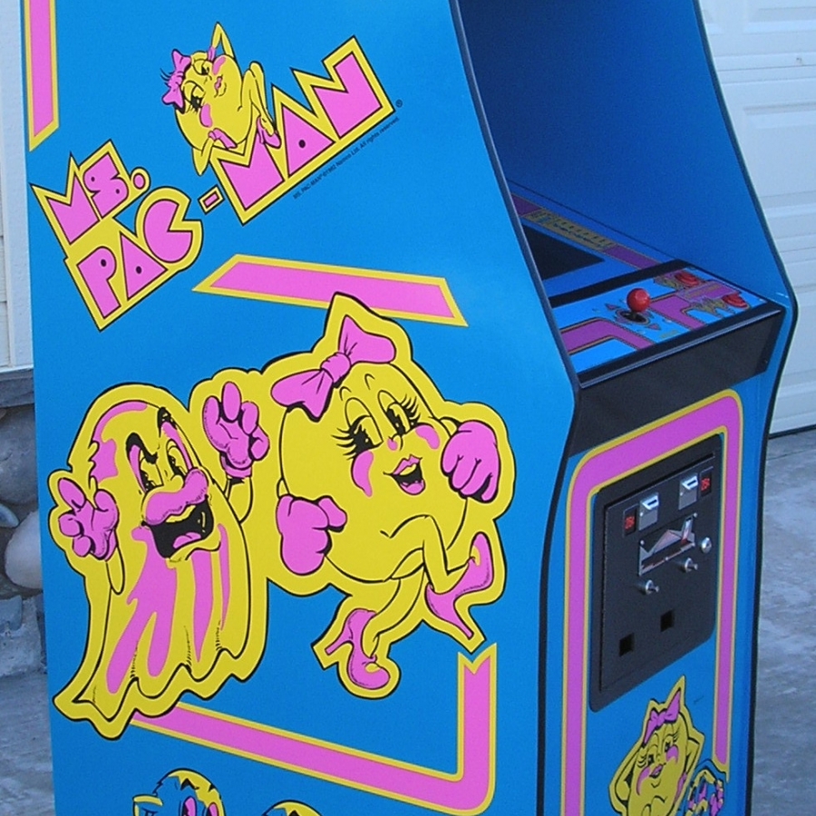Ms. Pac-Man 3 Piece Decal Set (left, right and front)