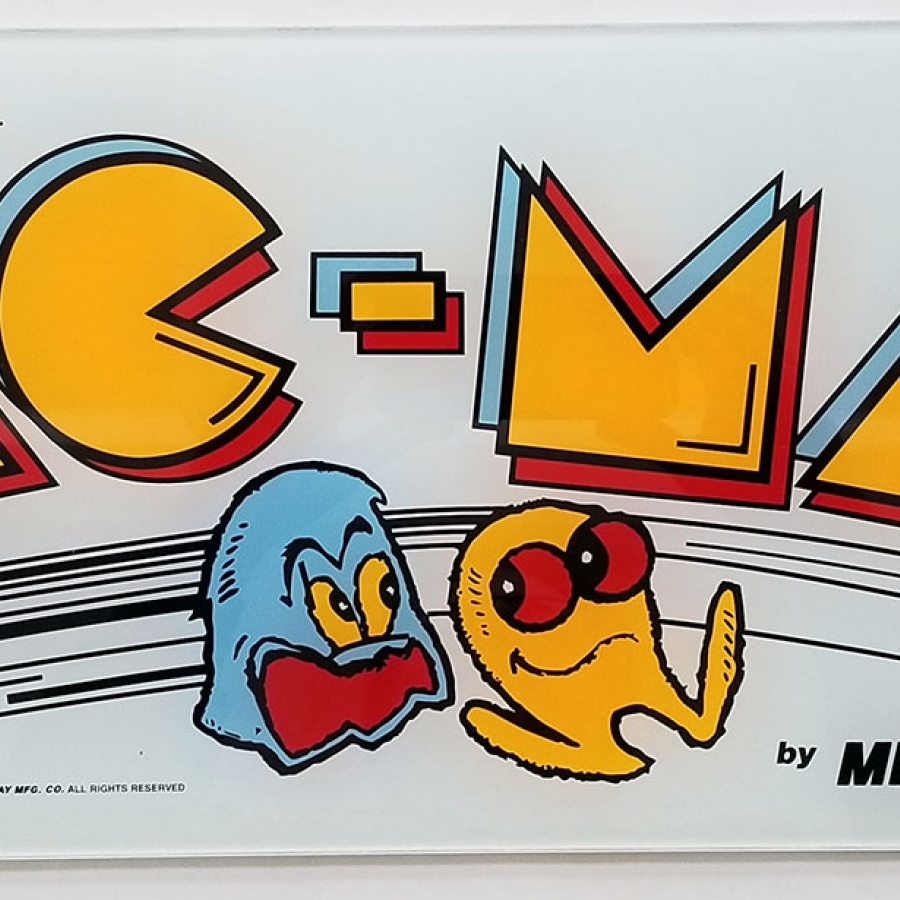 Pac-Man Glass Marquee