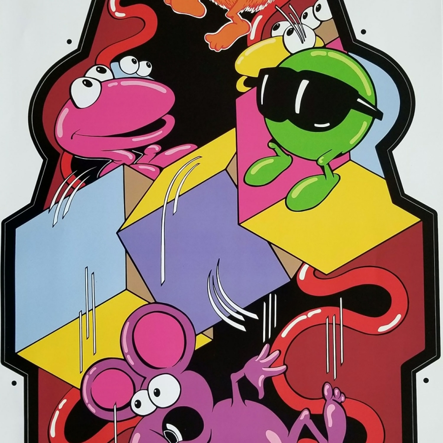 Qbert Cubes Side Art
