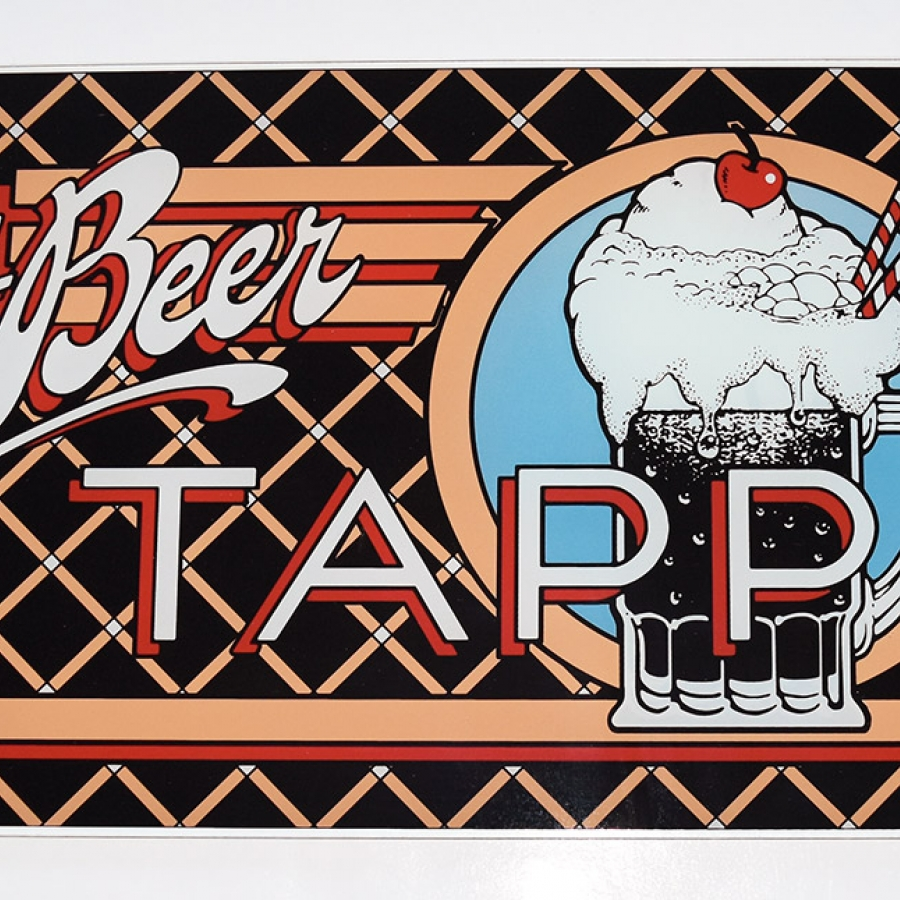 Root Beer Tapper Glass Marquee
