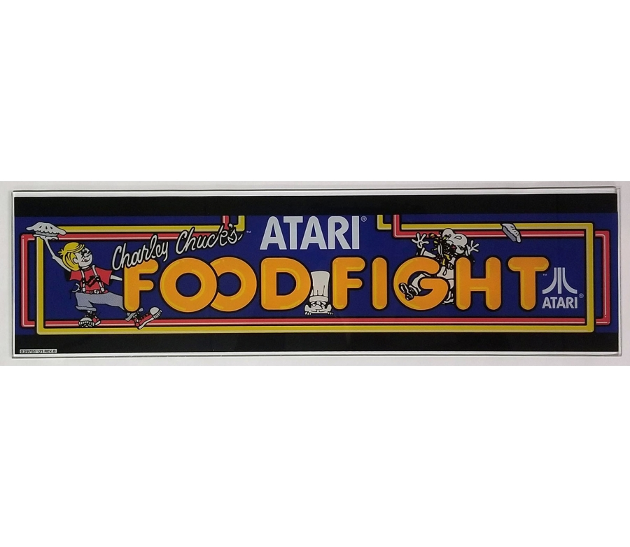 Food Fight Glass Marquee