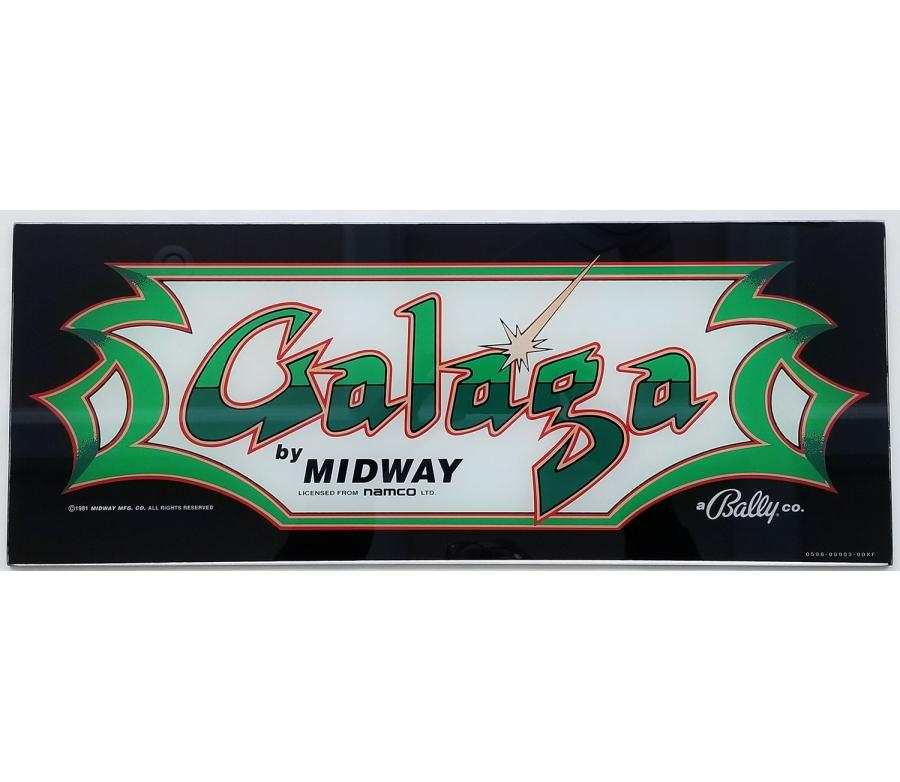 Galaga Glass Marquee