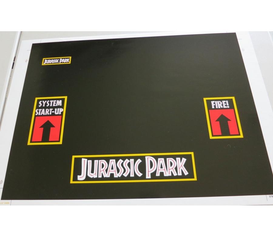 Jurassic Park Data East Pinball Cabinet Decal Set