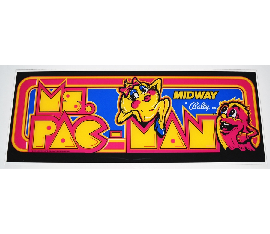 Ms. Pac-Man Plexiglass Marquee
