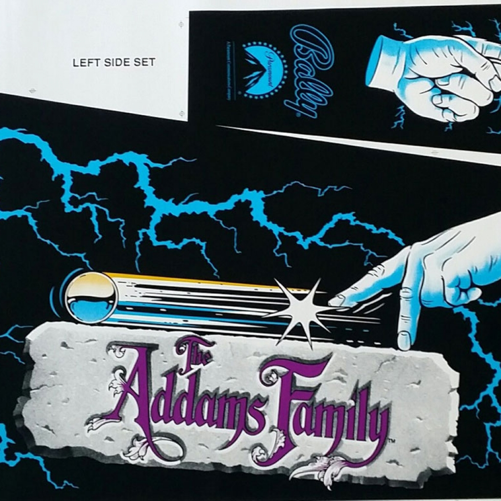 The Addams Family Cabinet Decal Set