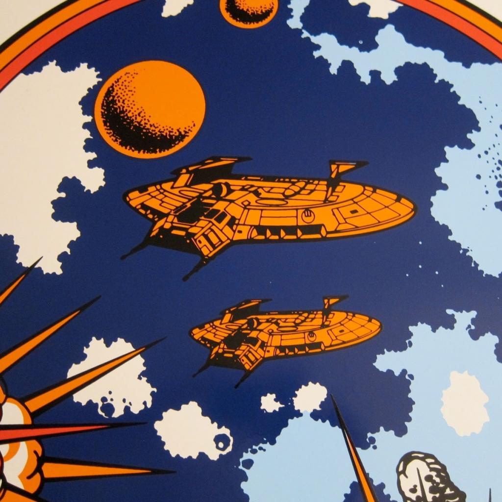 Asteroids Deluxe Mini Cabaret Side Art