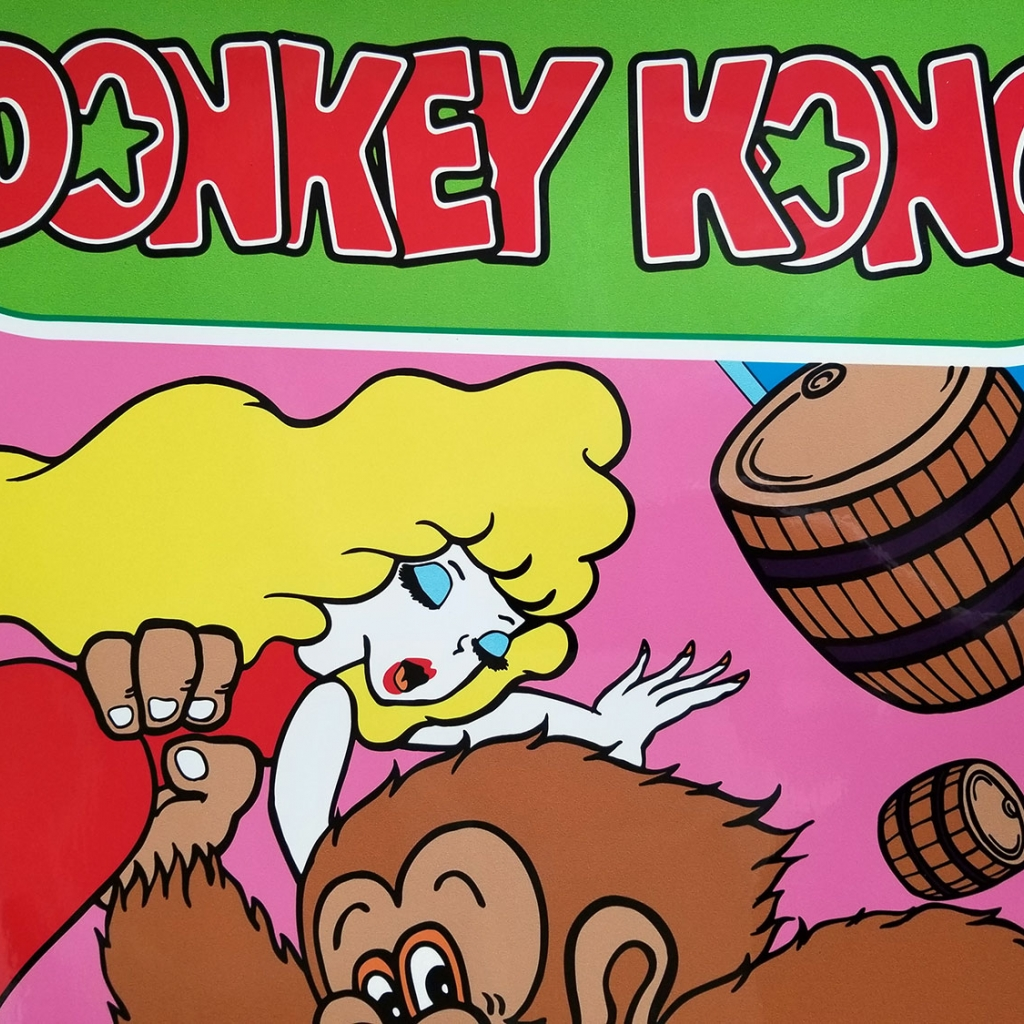 Clone of Donkey Kong Side Art Set no Trademark