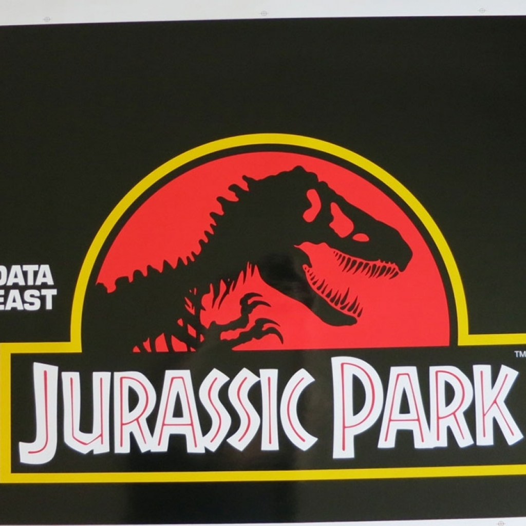 Jurassic Park Data East Pinball Cabinet Decal Set