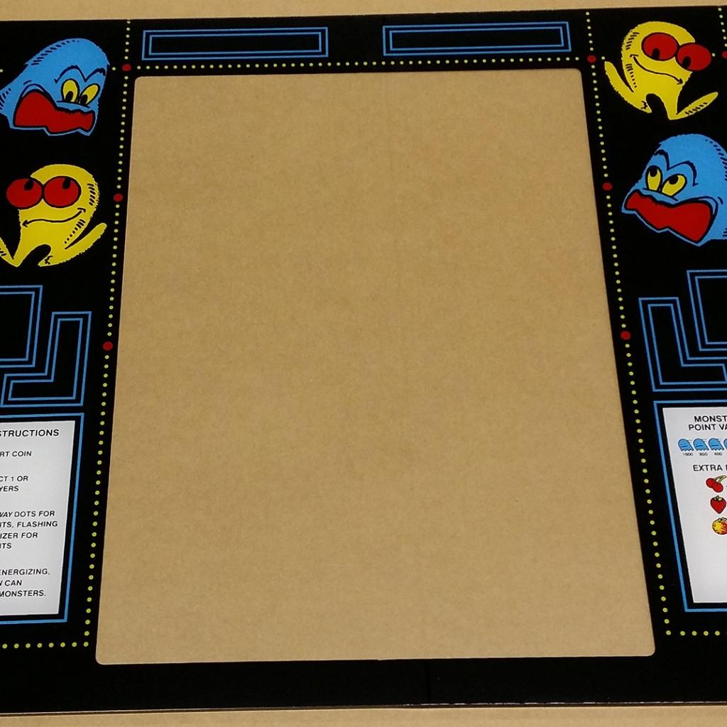 Pac-Man Cabaret Bezel