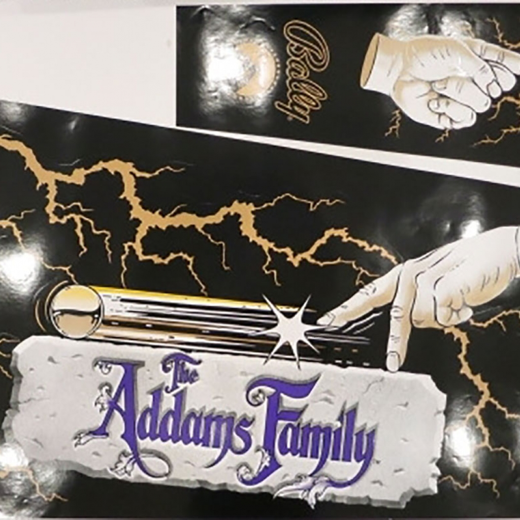 The Addams Family Gold Cabinet Decal Set