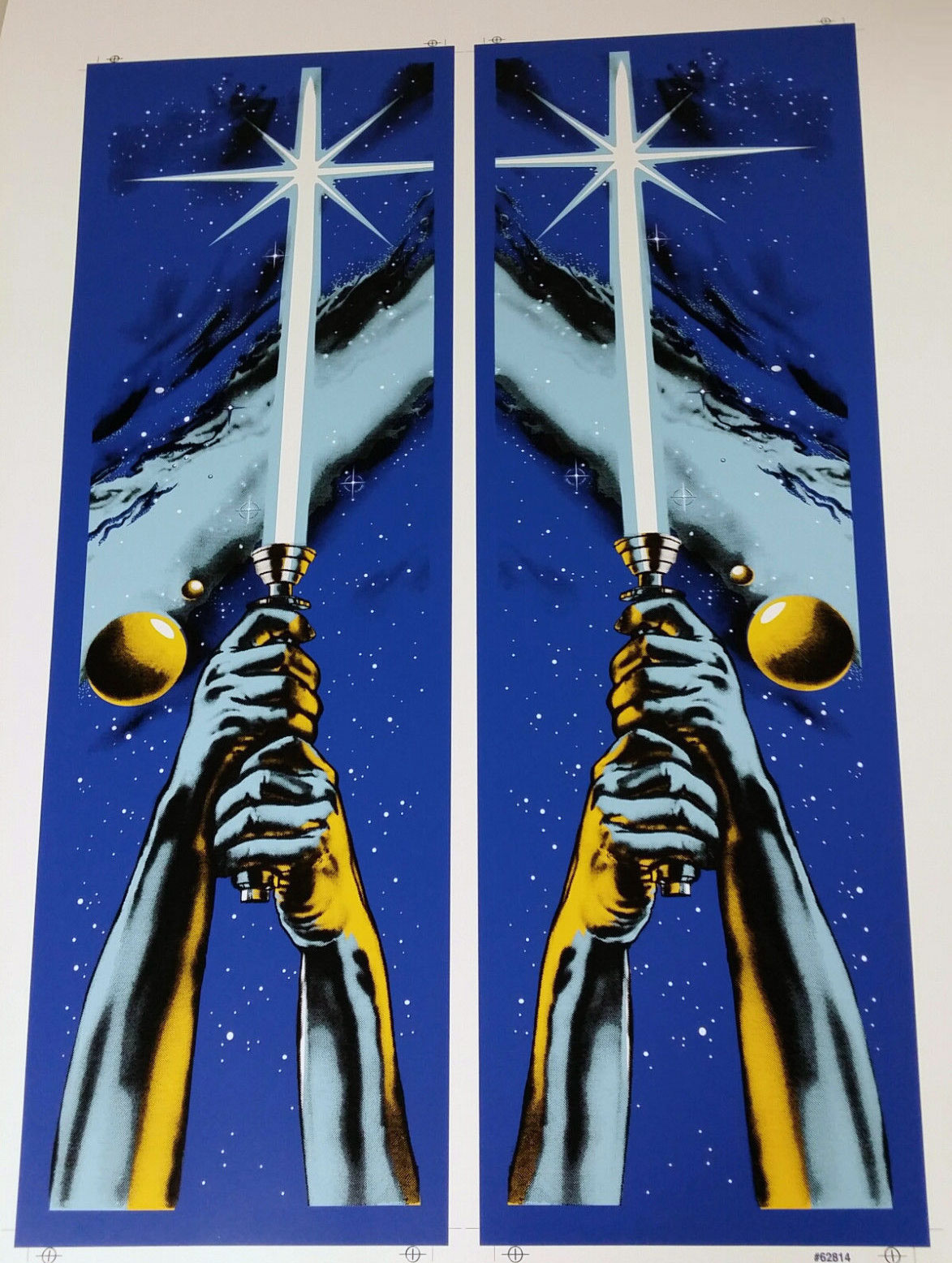 Star Wars Data East Pinball Cabinet Decal Set Phoenix