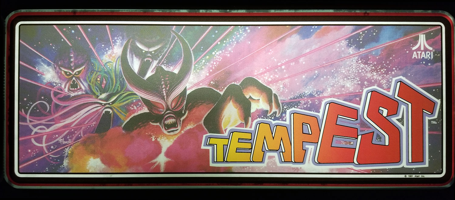 Tempest Upright Side Art Cpo And Marquee Phoenix Arcade